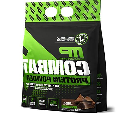 MusclePharm Essential Isolate Whey and Egg with BCAAs Glutamine Recovery, Chocolate 10-Pound, 129 Servings