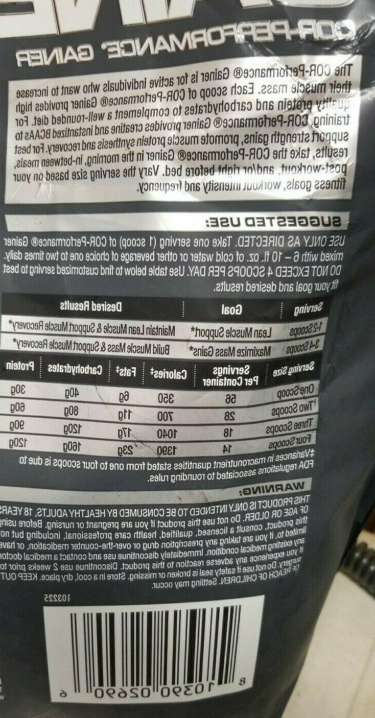 Cellucor Cor-Performance Gainer Quality Protein 10.74lbs 7/18