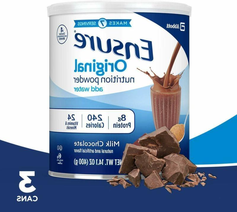 ensure original nutrition powder with 8 grams