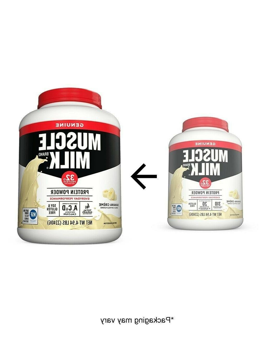 Muscle Milk Powder, Banana Crème, Protein, 4.94
