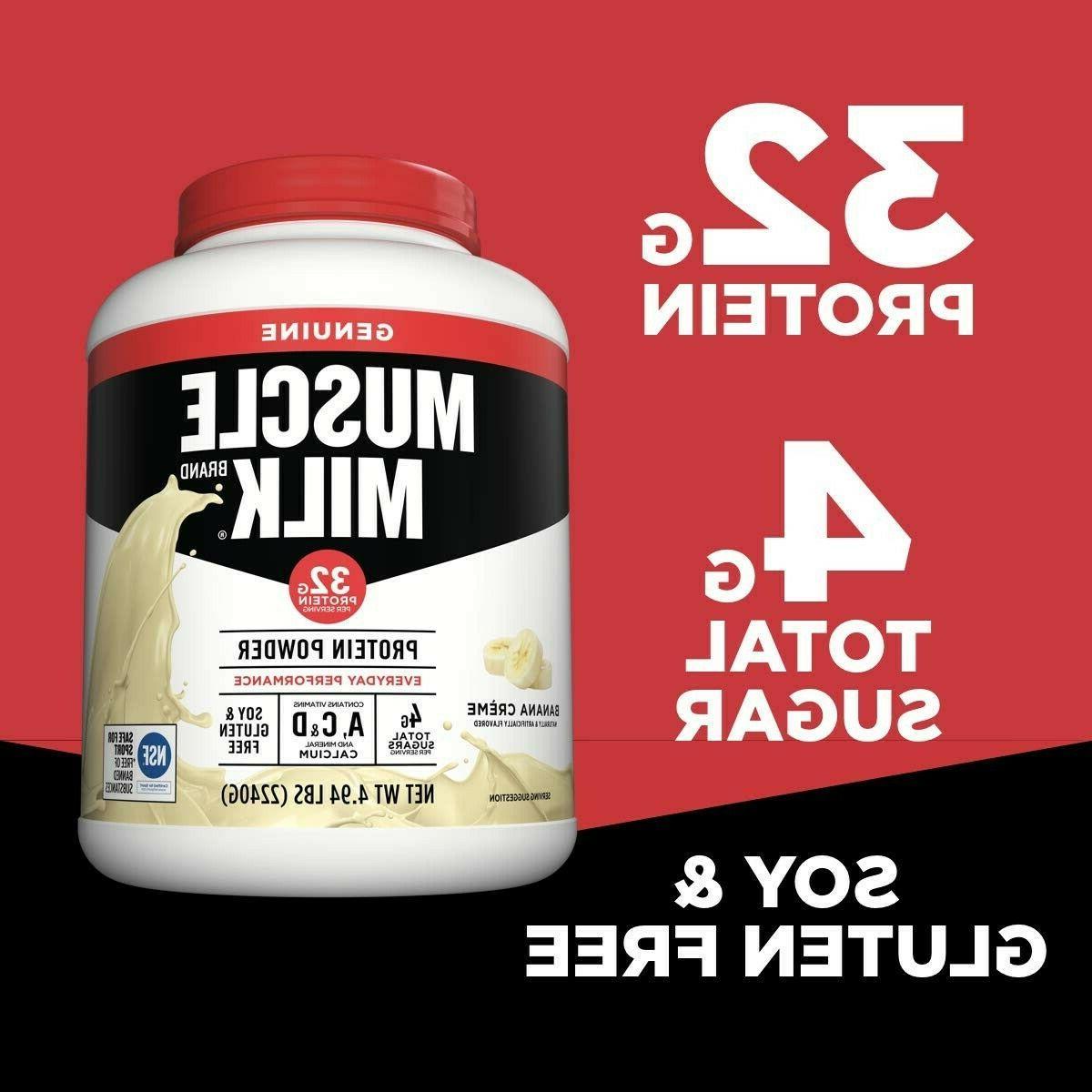 Muscle Milk Genuine Powder, Protein, 4.94 Pound