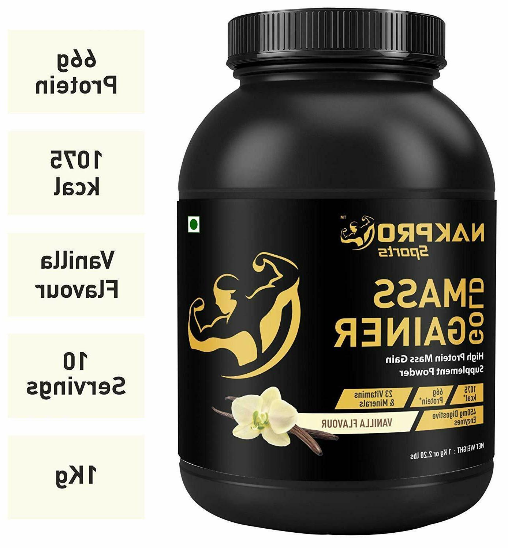 gold mass gainer protein powder supplement