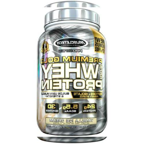 gold whey protein powder instantized
