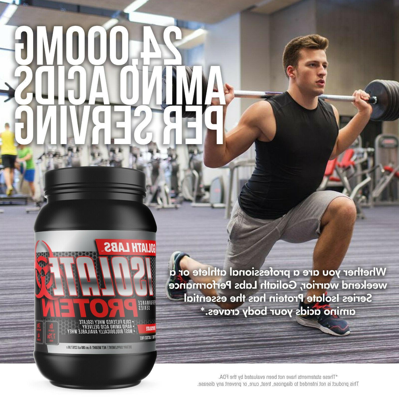 Goliath Labs 100% Isolate Whey Protein Powder 5LB Keto Frien