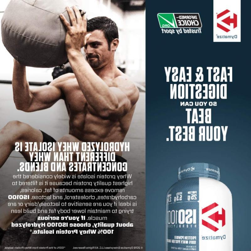 Dymatize ISO100 Hydrolyzed Powder, Whey 25g of,