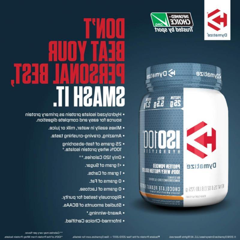 Dymatize Hydrolyzed Protein Powder, 25g of, 5.5g