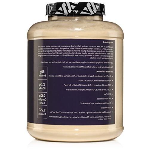 NAKED Weight Gainer Powder - 8lb GMO Free, Gluten Free Soy Free. Ingredients - 11
