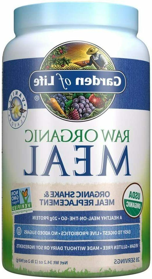 Garden of Life Meal Replacement Vanilla Powder, 28 Servings,