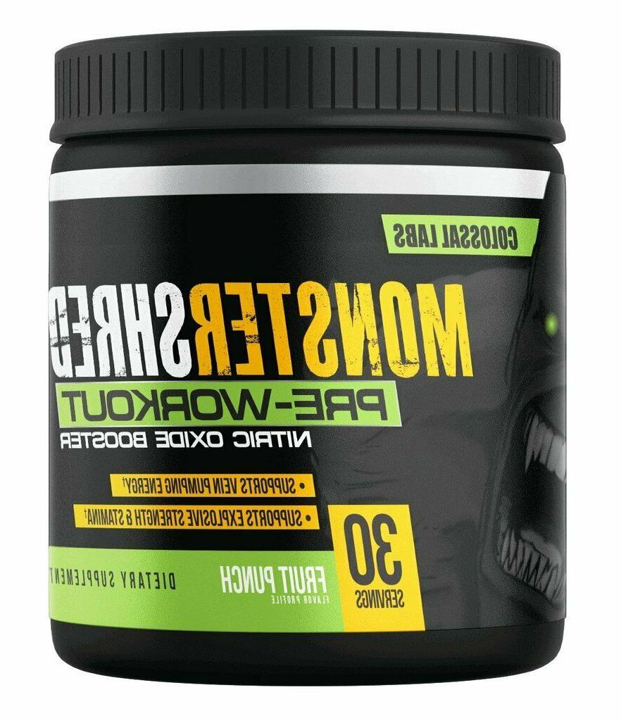 monster shred prework out anabolic nitric oxide