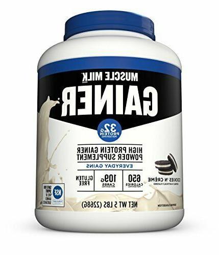 muscle milk gainer protein powder cookies n