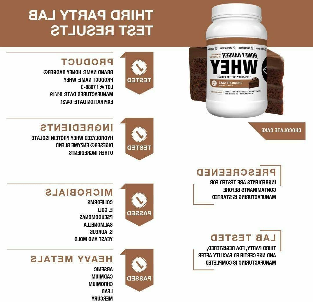 Honey Badger 100% Whey Protein BCAA