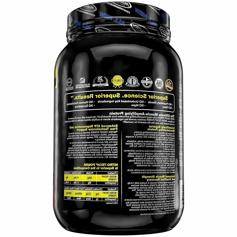 MuscleTech Nitro Tech Whey Protein Powder Formula