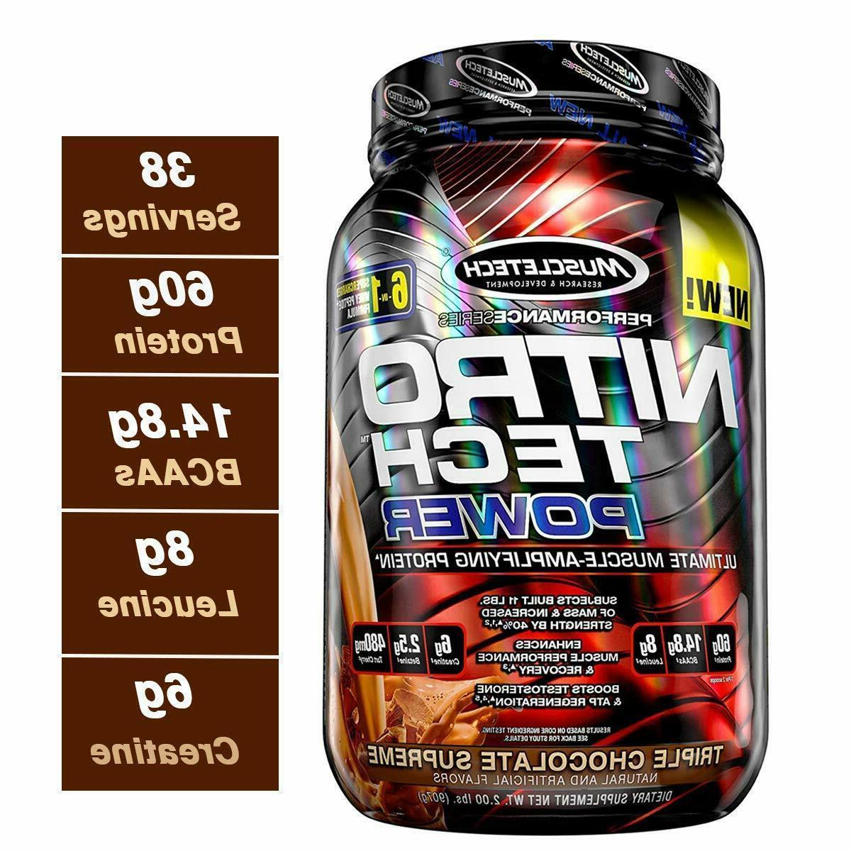 nitro tech power whey protein powder musclebuilding