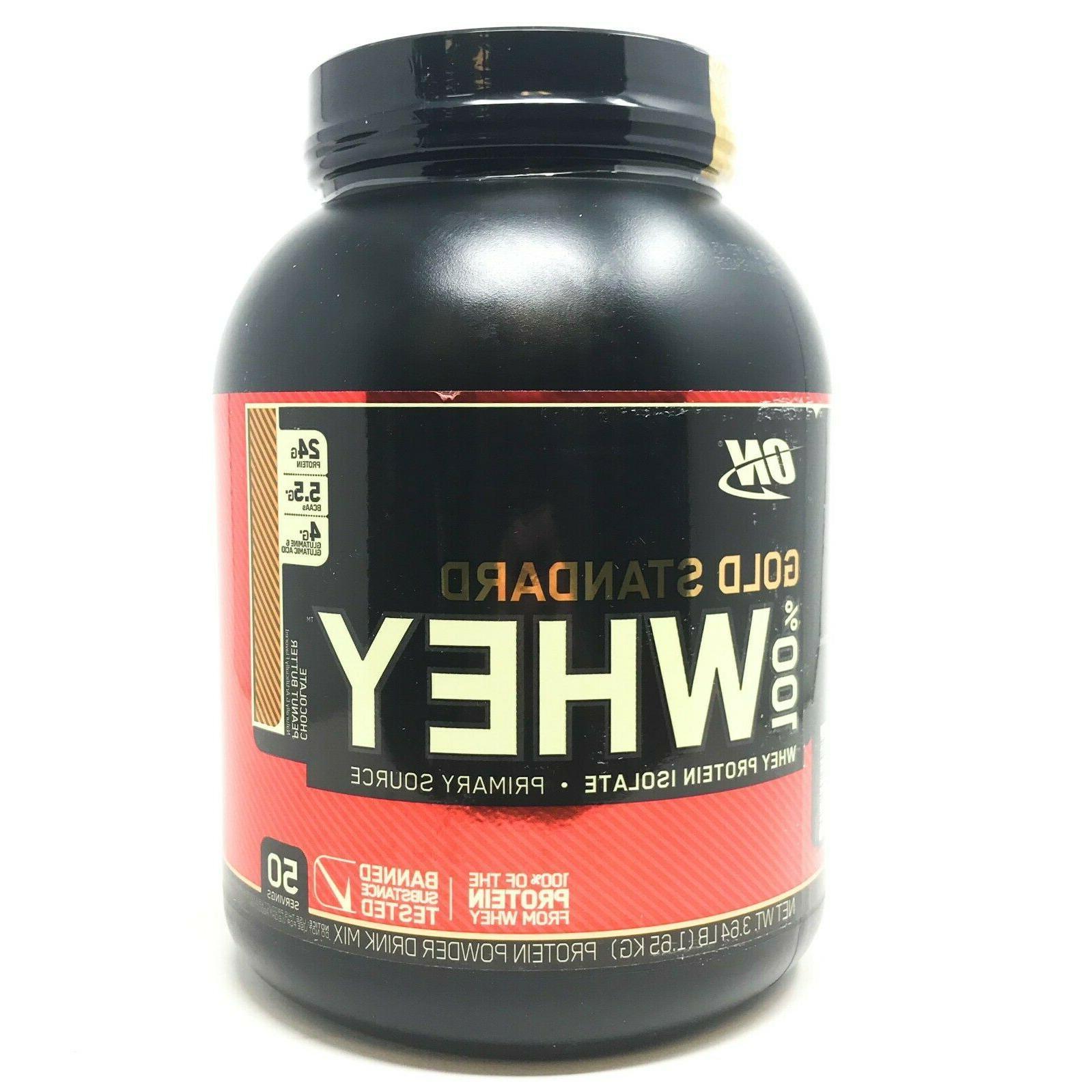 on gold standard whey protein powder 50