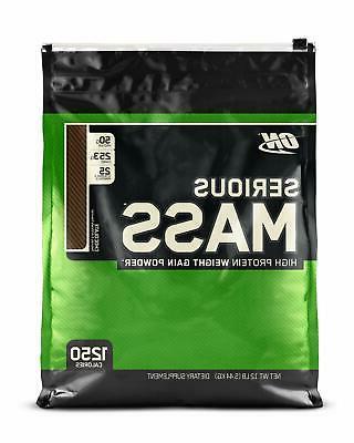 NUTRITION Serious Mass Weight Gainer Protein Powder Chocolat