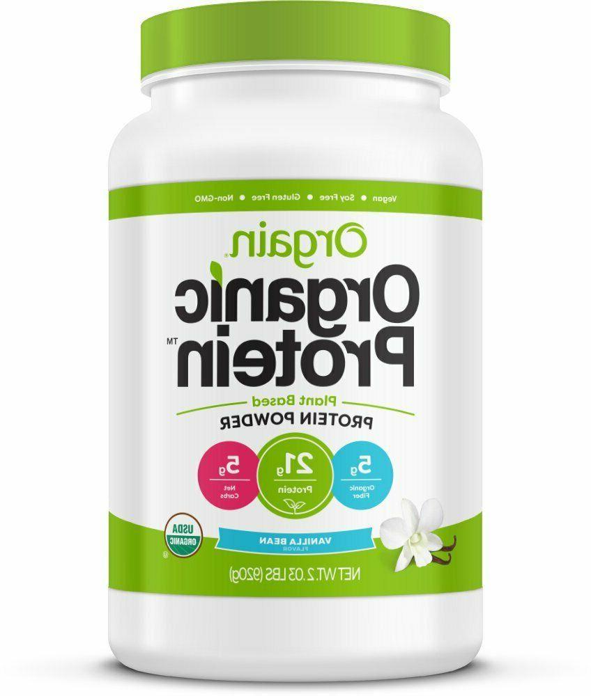 Orgain Organic Plant Based Protein Powder, Vanilla Bean 2.03