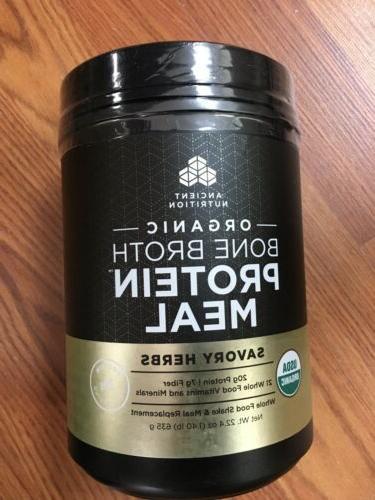 organic bone broth protein meal powder savory
