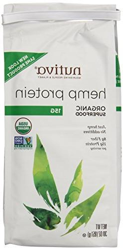 Nutiva Organic Hemp Protein, 15G, 30 Ounce