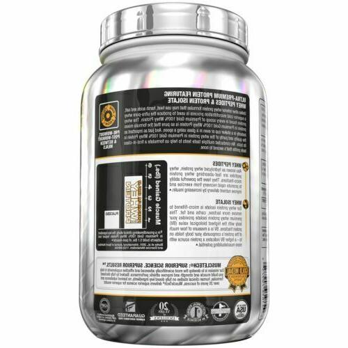 MuscleTech Premium Whey Protein Powder.