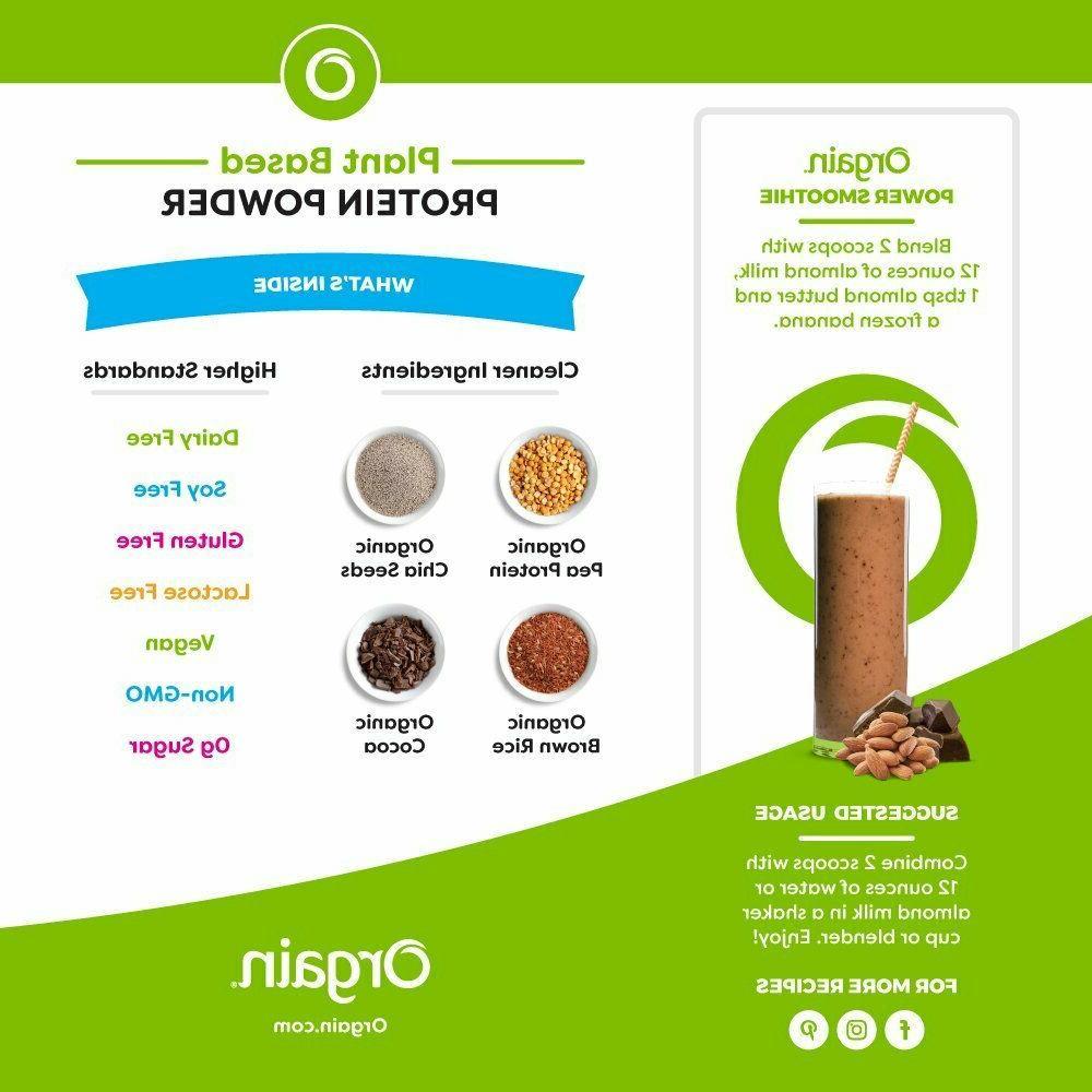 Orgain Organic Protein Powder Chocolate Fudge 2.03