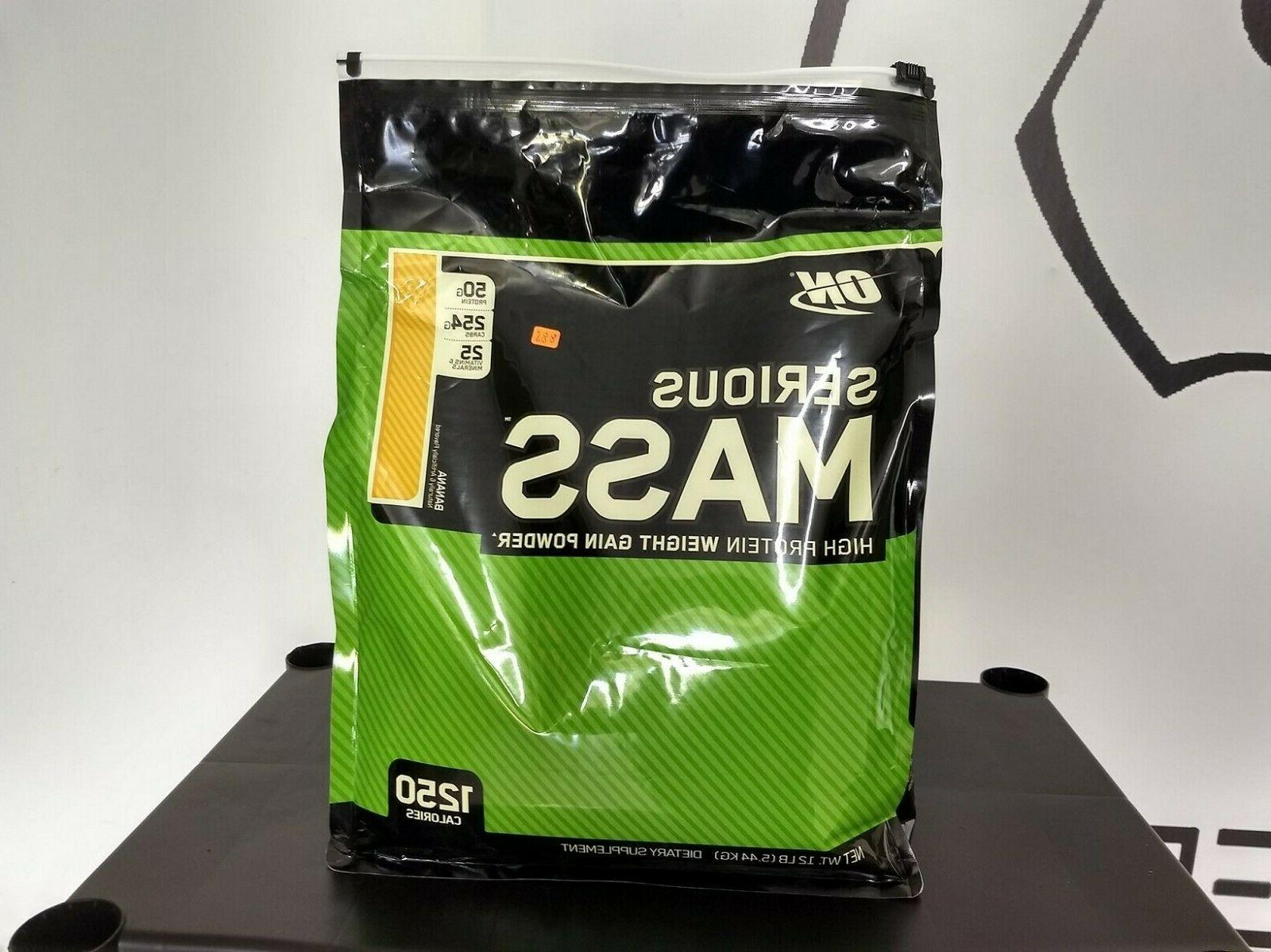 Optimum Nutrition Serious Mass Protein Powder, Chocolate Pea