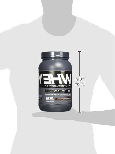 Cellucor Whey & Concentrate with BCAAs, Post Recovery Drink, Gluten Low Carb Molten 28 Servings