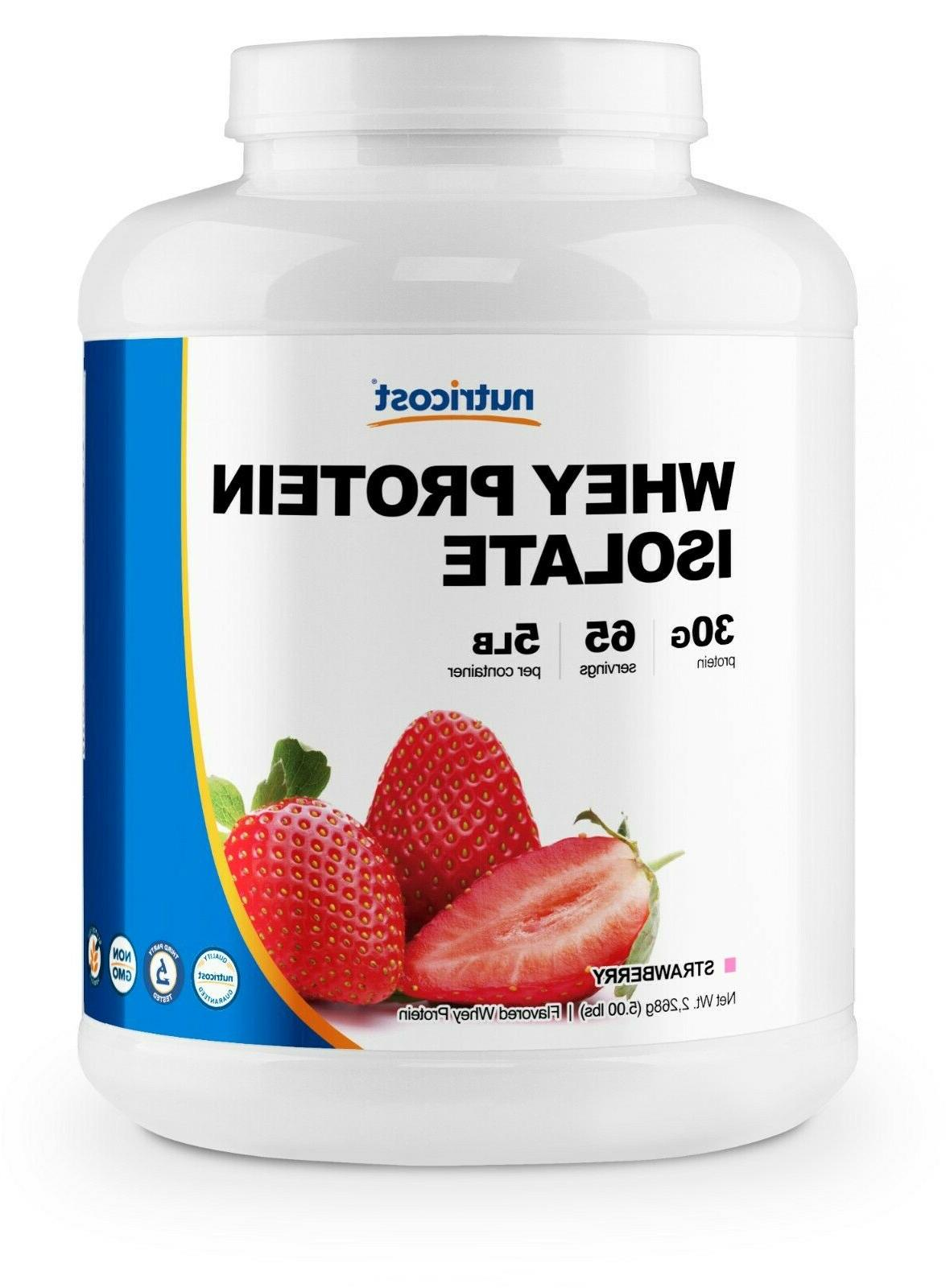 whey protein isolate strawberry 5 lbs non