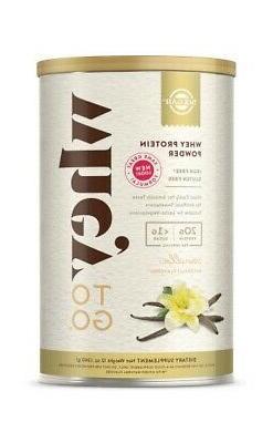 Whey To Go Protein Powder-Natural Vanilla Solgar 12 oz Powde