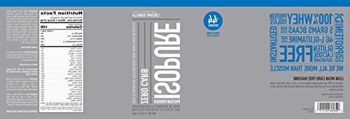 Isopure Zero Carb Protein Powder, 100% Isolate, Vanilla, 3 Pounds