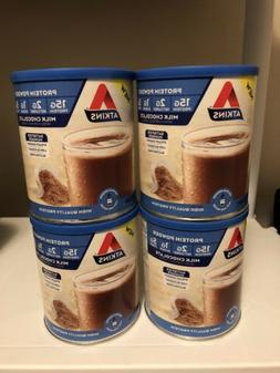 Lot Of 4-10.2 Oz Atkins Gluten Free Protein Powder, Chocolat