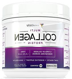 Multi Collagen Peptides Powder: 40 SRV Anti Aging Super Yout
