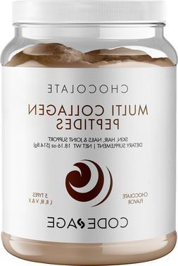 Codeage Multi Collagen Peptides Protein Powder, Chocolate Co