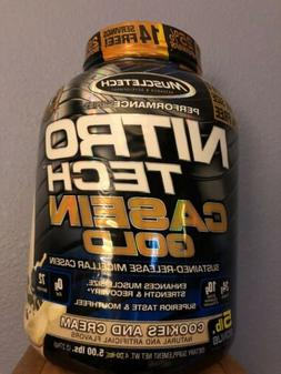 Muscletech Nitrotech Casein Gold Protein Powder Micellar Coo