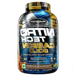 MuscleTech NitroTech Casein Gold Protein Powder, Sustained-R