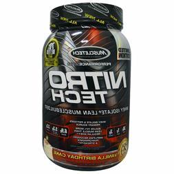 MuscleTech NitroTech Protein Powder Plus Muscle Builder, 100