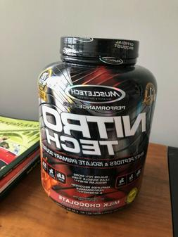 Muscletech NitroTech Protein Powder Plus Whey Protein, 4lbs,