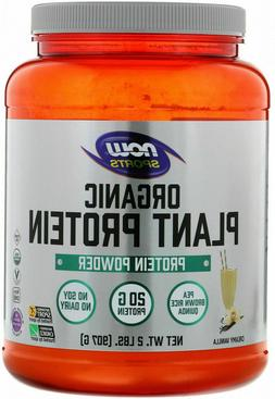 NOW Foods Sports Vegan Organic PLANT PROTEIN Blend 2 lbs, 25