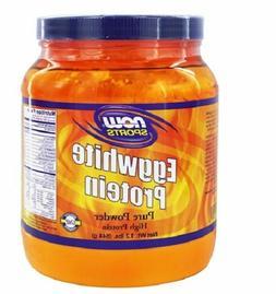 NOW Sports Eggwhite Pure Protein Powder 1.2 Pound 544g