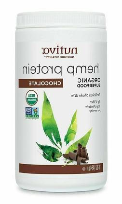 Nutiva Organic Superfood Hemp Protein Shake Mix Chocolate 16