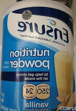 Ensure Nutrition Drink Shake Vanilla Powder 14 Oz Protein Su