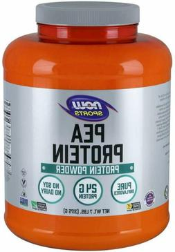 NOW Sports Nutrition, Pea Protein 24G, Fast Absorbing, Unfla