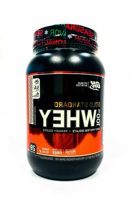 Optimum Gold Standard 100% Whey Protein 2 lbs, 28 Servings P