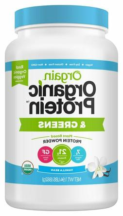 Orgain Organic Plant Based Protein & Greens Powder, Vanilla