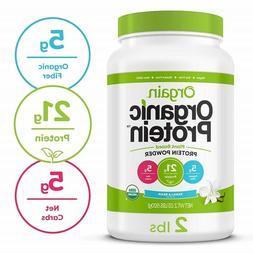 Orgain Organic Plant Based Protein Powder Vanilla Bean Enhan