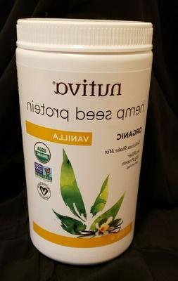 Nutiva Organic Cold-Pressed Hemp Seed Protein Powder, Vanill