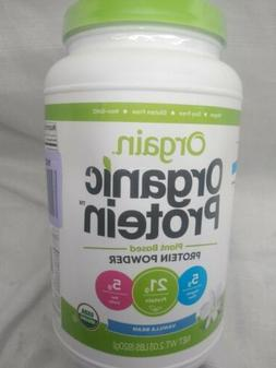 Orgain Organic Plant Based Protein Powder, 1 LB - Vanilla Be