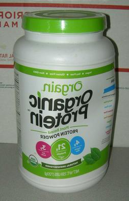 Orgain Organic Plant Based Protein Powder  Natural Unsweeten