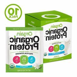 Orgain Organic Plant Based Protein Powder Travel Pack, Vanil