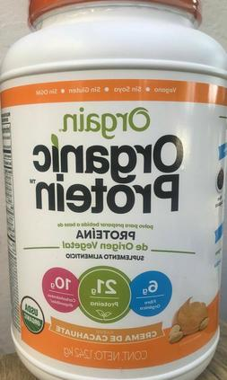 Orgain Organic Plant Protein Powder, 1.242kg Crema De Cacahu