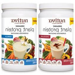 NUTIVA ORGANIC VANILLA And Chocolate PLANT PROTEIN POWDER 21